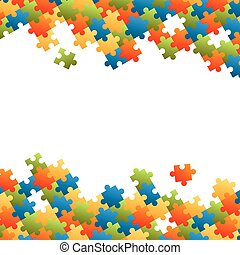 puzzle pieces background - fine colored puzzle pieces on...