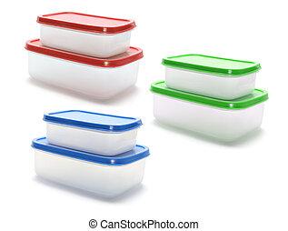 plástico, contenedores
