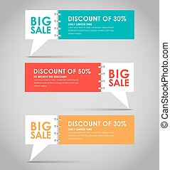 Banners with quote bubble for big sale