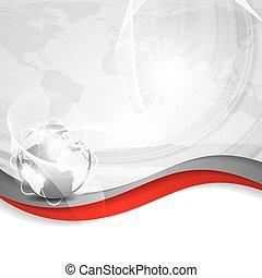 Business vector silver background global concept