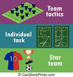 The terms of team success in football, banner or...