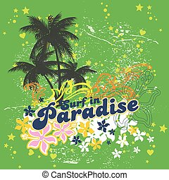 surfing paradise Vector