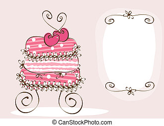 wedding cake - doodle sweet wedding cake