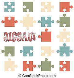 all 18 puzzle parts - collection of all 18 puzzle parts in...