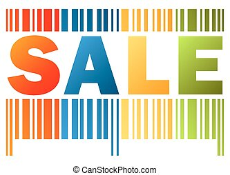 bar code SALE - business bar code in four colors with word...