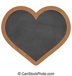 heart chalk board with wooden frame