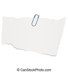 scrap of paper - gray colored scrap of paper with paper clip