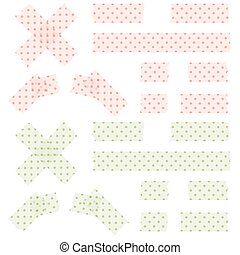 adhesive tapes dotted - collection of dotted adhesive tapes...