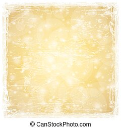 golden abstract background with shiny stars and white grunge...