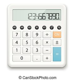 white standard calculator - white calculator with standard...