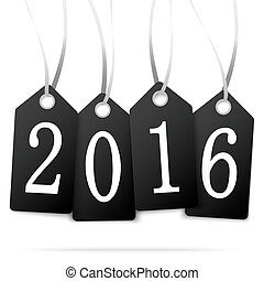 hang tags with year 2016 - black colored hang tags with...