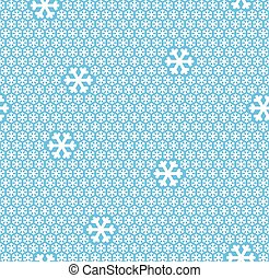 seamless snow flakes background - white snow flakes on blue...