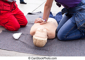 CPR First aid - Cardiopulmonary resuscitation - CPR First...