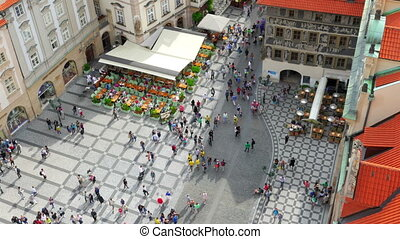 """prague, old town square, czech republic, timelapse, zoom..."