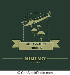Military and armored vehicles logos and badges. Graphic...
