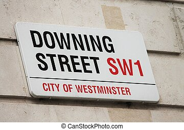 Downing Street in Westminster, london