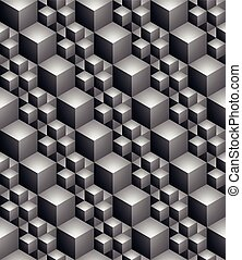 Black and white abstract textured geometric seamless...
