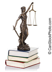 Statue of justice  isolated