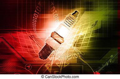 Sparkplug - Illustration of Sparkplug using in petrol...