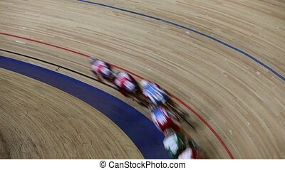blurred motion bicycle race - Bicycle Race competition...