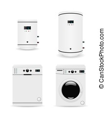 Set of household appliances