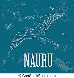 Nauru. Retro styled image. Vector illustration