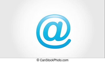 email icon design, Video Animation