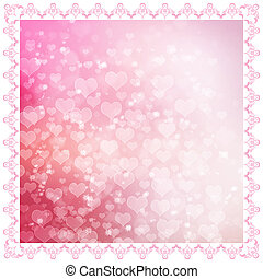 Valentines day design three - Pink hearts background design...