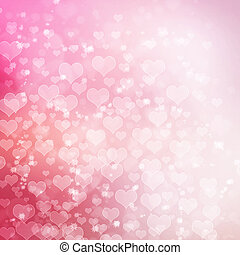 Valentines day design two - Pink hearts background design...