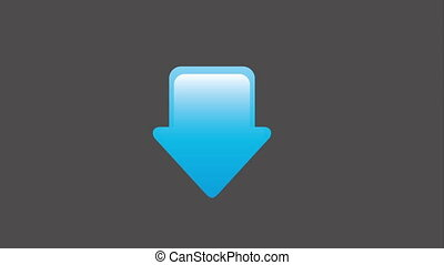 Download icon design, Video Animation HD1080