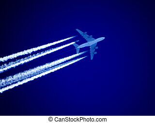 Airliner in the sky