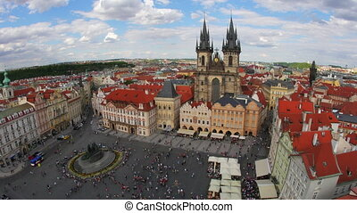 """prague, old town square, czech republic, timelapse, 4k"""