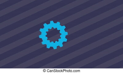 gears and cogs design, Video Animation HD1080