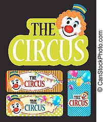 The Circus Banner Set Vector Illustration