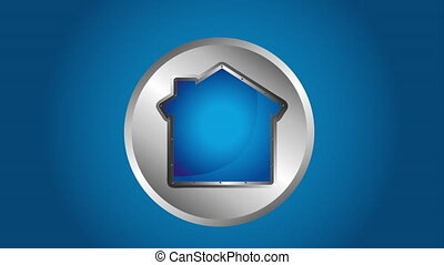 House icon design, Video Animation HD1080