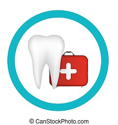 Dental Clinic Icon Vector Illustration