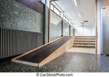 Modern rollstuhl rampe stock fotos und bilder 44 modern - Rampe rollstuhl treppe ...