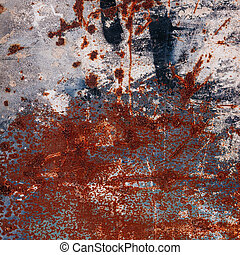 Abstract large rust surface background Grungy background...
