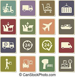 Delivery simply icons - Delivery vector icons for web sites...