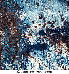 Abstract large rust surface background - Blue Abstract large...
