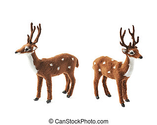 Toy roe deer fawn isolated