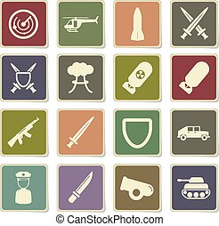 Military simply icons - Military vector icons for web sites...