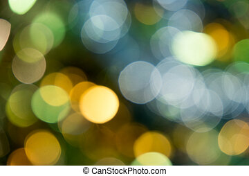 Holiday party defocused lights.