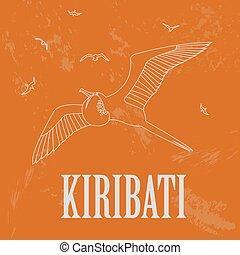 Kiribati Retro styled image Vector illustration