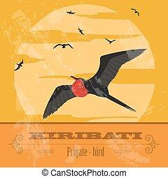 Kiribati. Retro styled image. Vector illustration