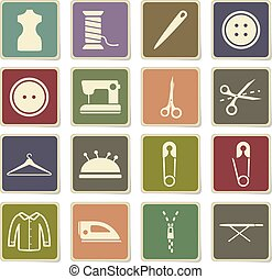 Tailoring simply icons - Tailoring vector icons for web...