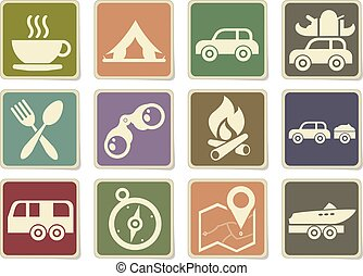 Tourism and Travel Icons - Tourism and Travel vector icons...
