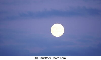 quot;full moon timelapse with clouds at twilight, 4kquot; -...