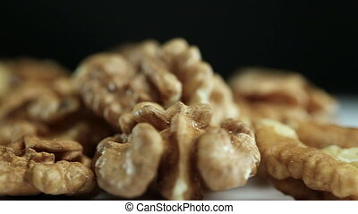 Kernels of Walnut on The Table - Kernels Rotate on The...