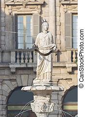 Madonna Verona in Piazza delle Erbe - The ancient roman...